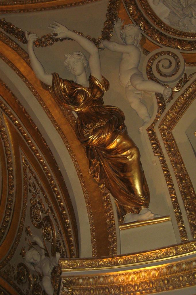 Фото росписи потолка в Лувре — фото 24