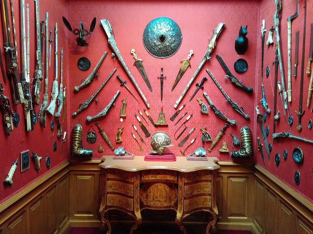 Поместье Уоддесдон - коллекция оружия