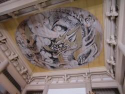Роспись на потолке буцудана в храме Энгакудзи