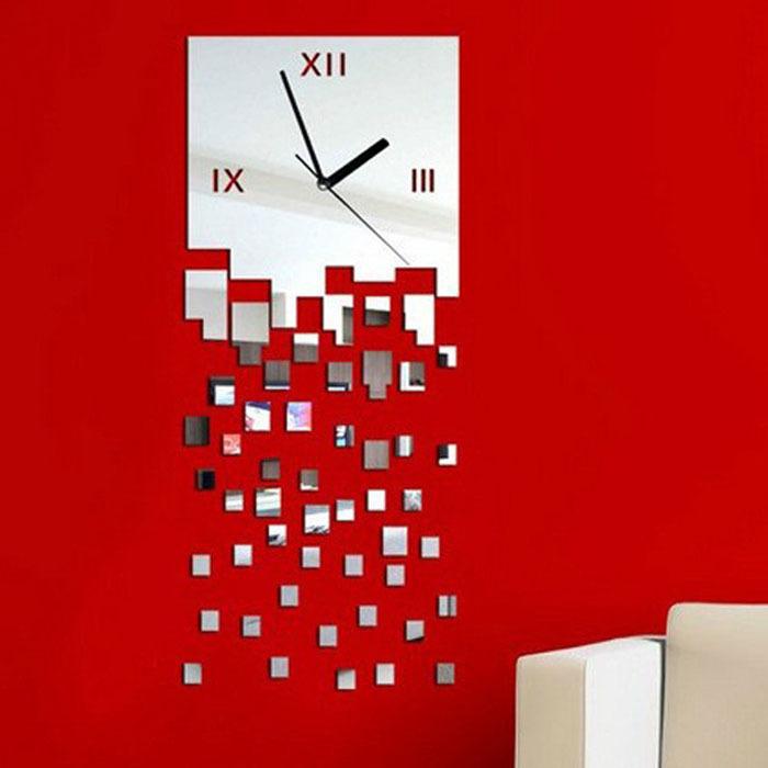 Зеркальные часы с эффектов водопада. Купить на Aliexpress.