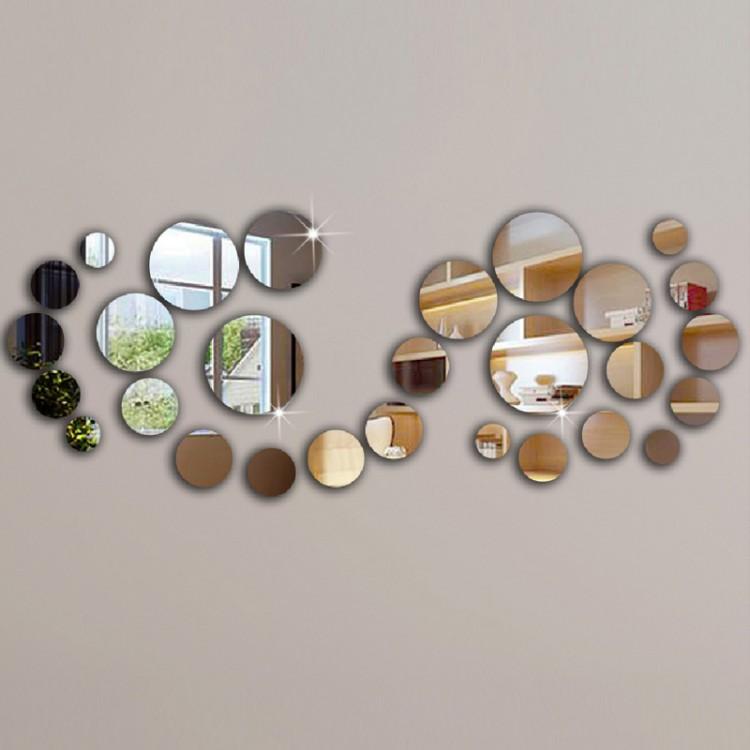 Двадцать восемь акриловых зеркал для декора. Купить на Aliexpress.