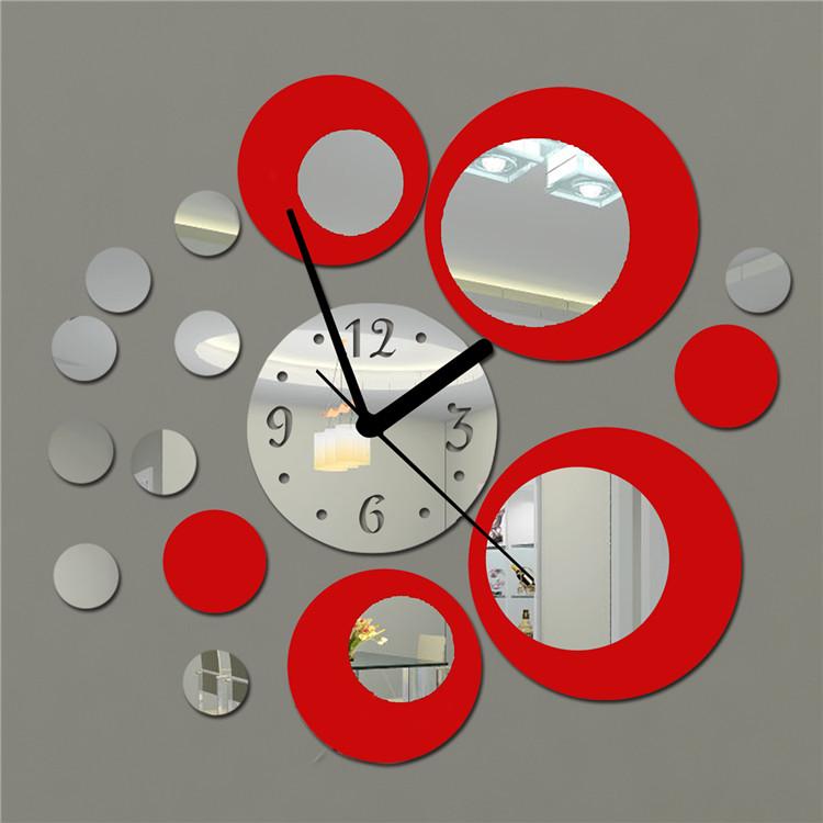 Зеркальные акриловые часы. Купить на Aliexpress.