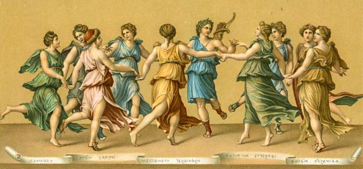 Девять муз в древнегреческой мифологии