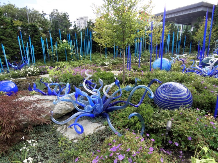 Стеклянный сад Чихули сад Чихули
