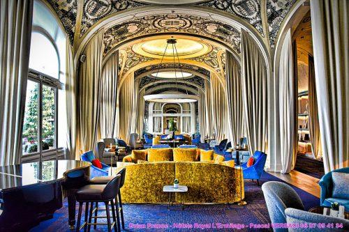 Роспись потолка в отеле Эрмитаж в Эвьян-ле-Бен — фото 4