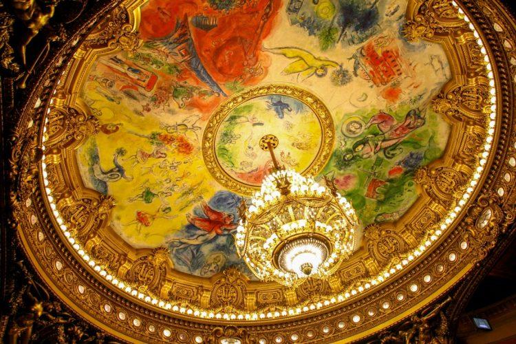 Парижская Опера Гарнье роспись Шагала