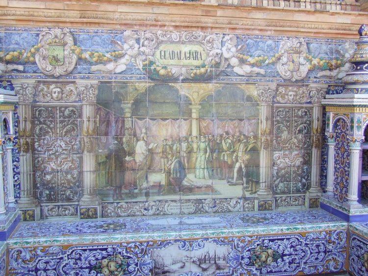 Площадь Испании - декоративная плитка
