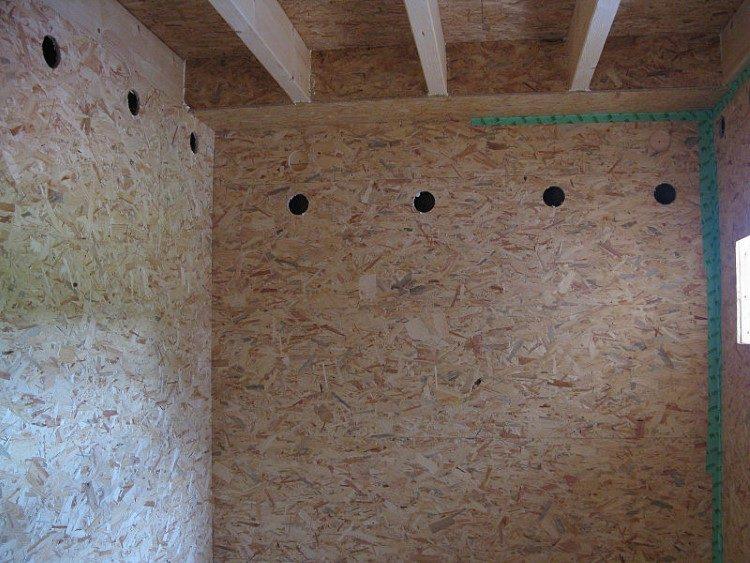 Стена из плит ОСБ