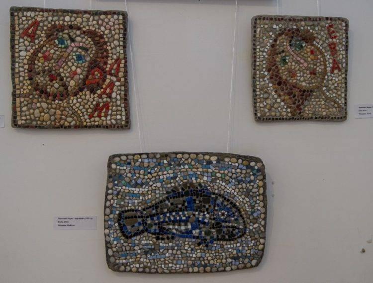 Керамика и мозаика на выставке Весна 2019 в Союзе Художников Санкт-Петербурга