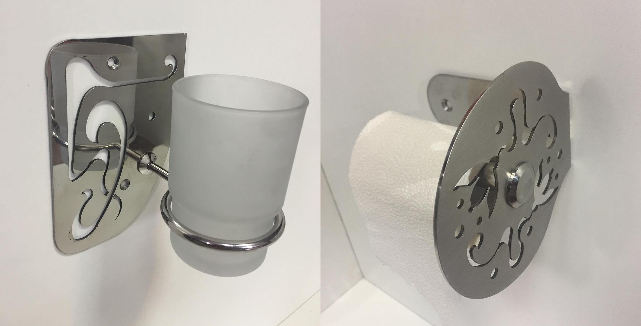 металлические аксессуары для ванной