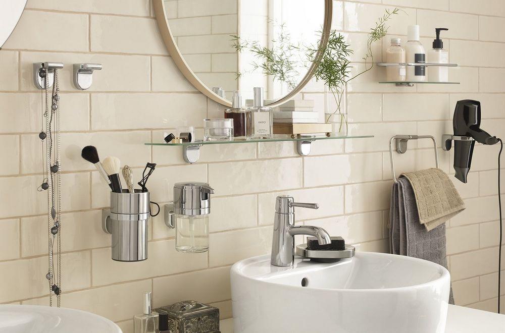 Металлические аксессуары для ванной и туалета