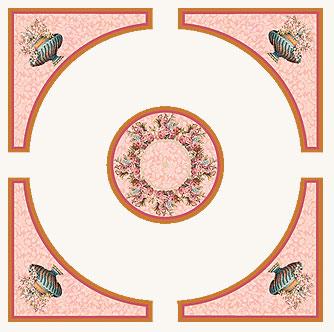 Фрески (роспись стен и потолка) — Розовый букет